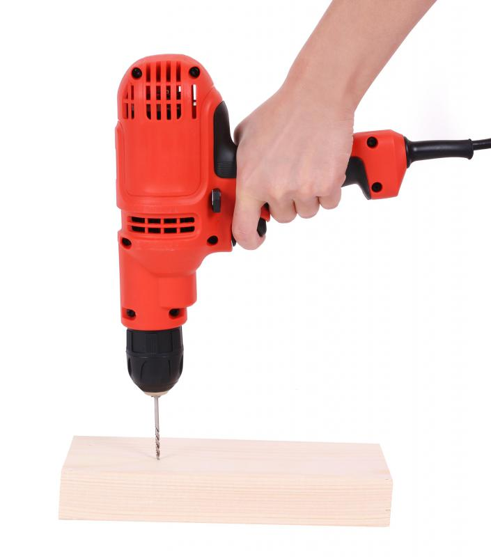 Modern electric hand drills can draw power from batteries or electrical cords.