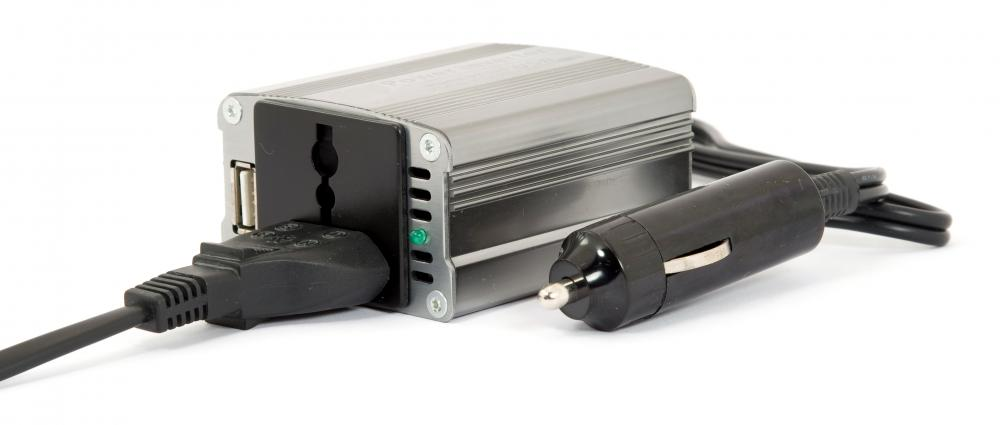 Power inverter with 12v car plug.