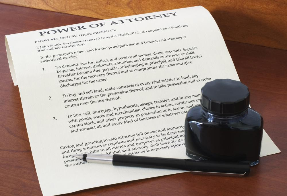 Legal software can be used to draft a power of attorney document.