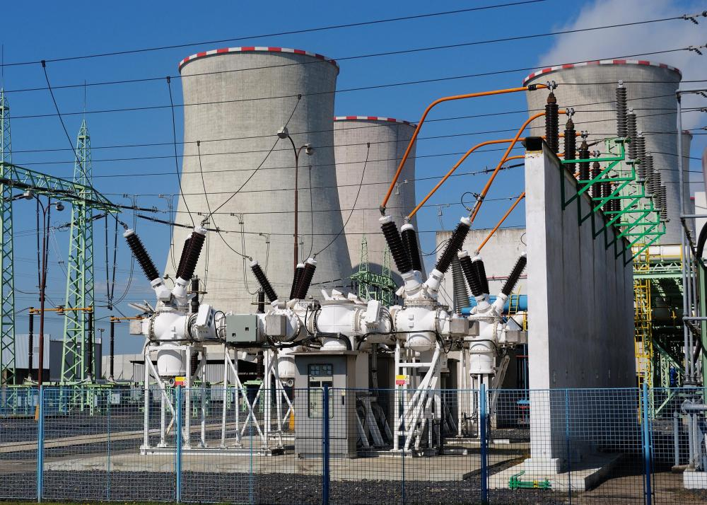Power plants generate the electricity that is spread throughout a power grid.