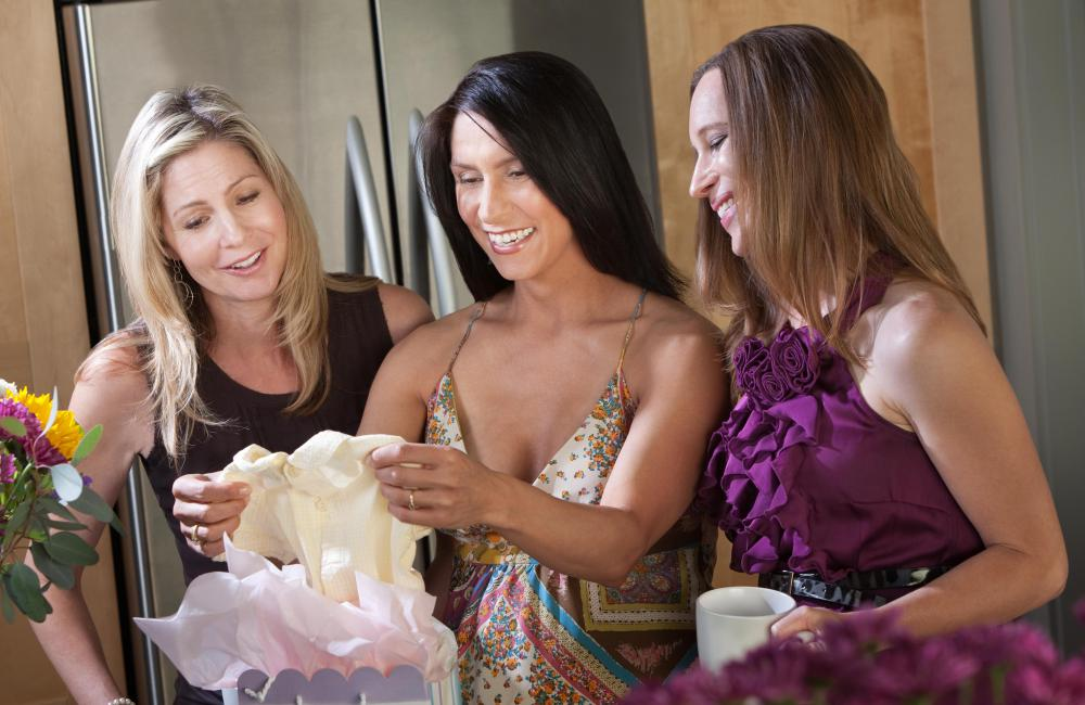Baby clothes are a popular gift given to the mother-to-be during a baby shower.
