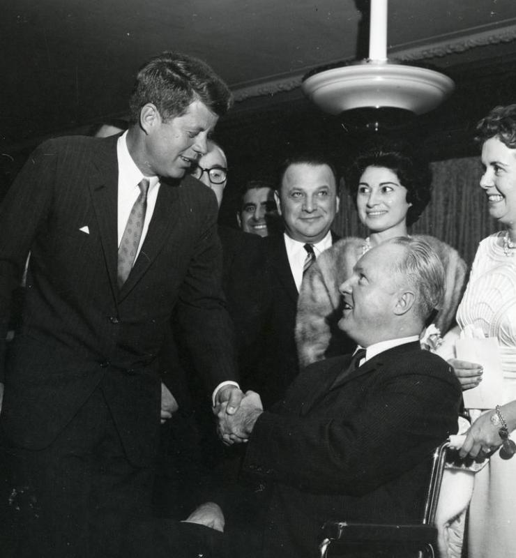 President John F. Kennedy died within an hour of being shot.
