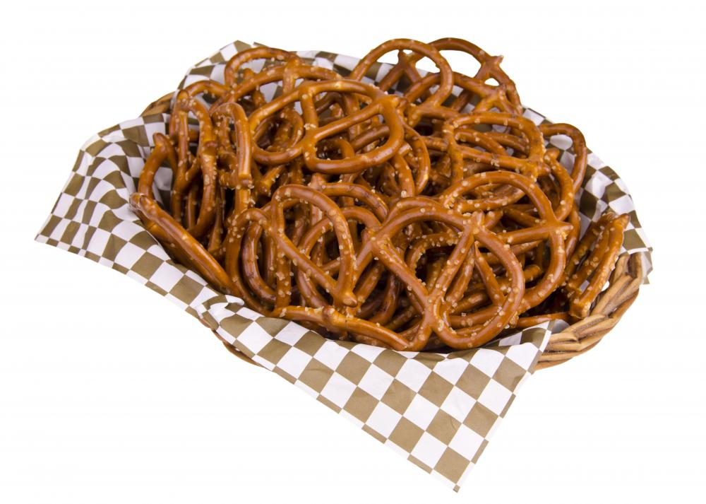 Pretzels provide grains without the fat.