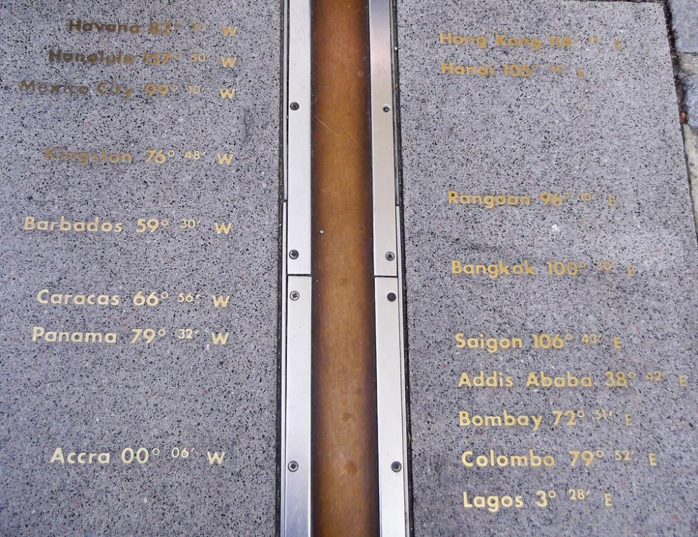 Prime Meridian at the Royal Observatory in Greenwich, United Kingdom.