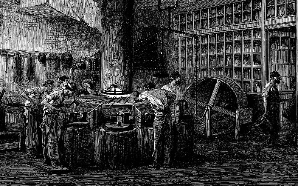The Industrial Revolution saw a shift from agriculture to manufacturing.