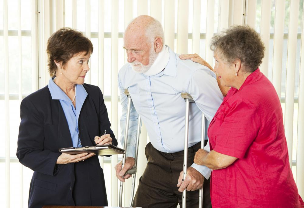 A physical therapy assistant may teach patients how to use crutches.