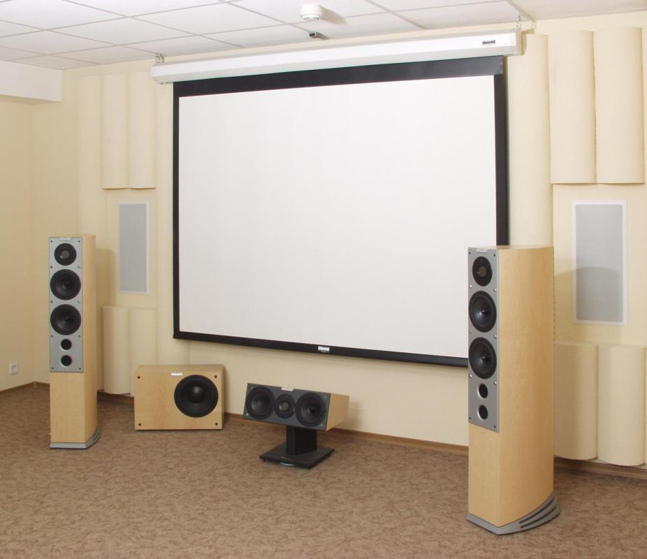 Rear projection screens can be used to set up home theater systems.