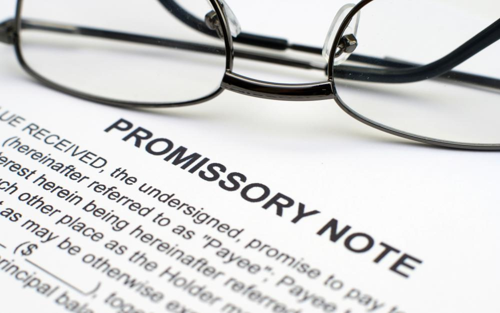 A Promissory Note.  Parties Of Promissory Note