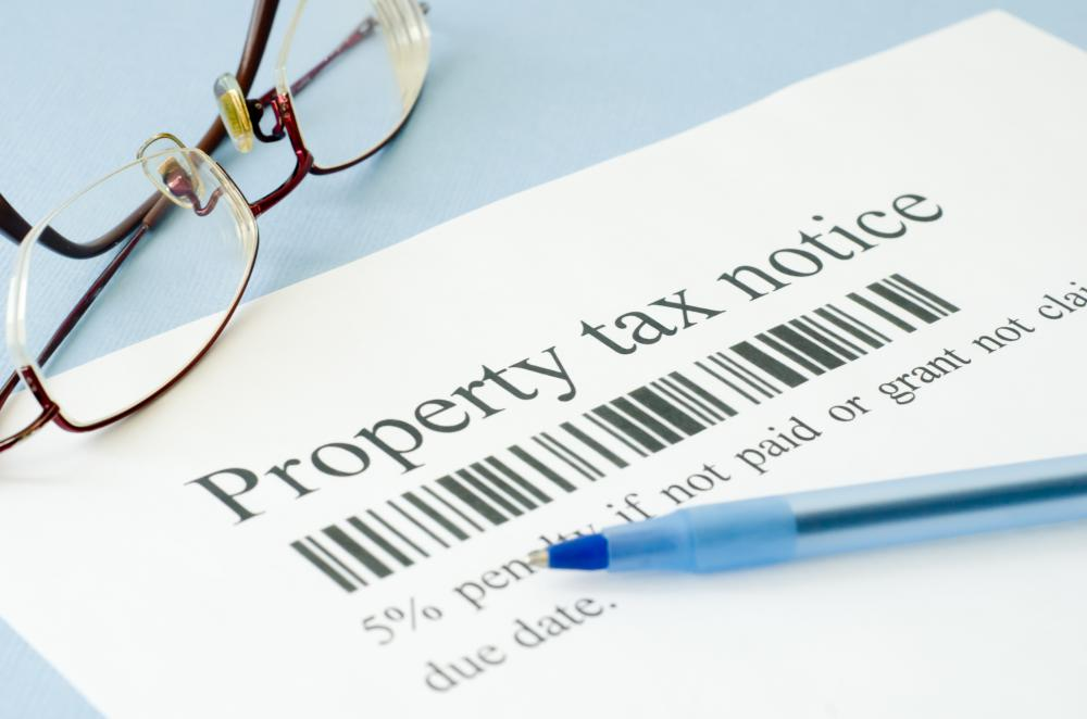 Failure to pay property taxes could result in the real estate being sold at a tax auction.