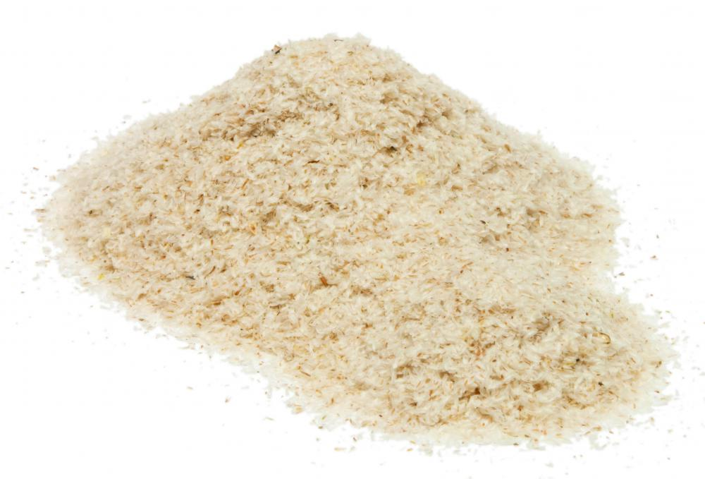 Psyllium seed husk powder contains large amounts of soluble fiber.