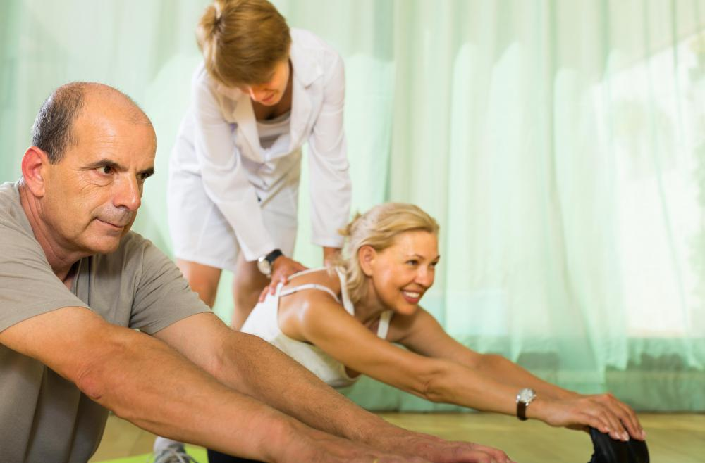 Patients suffering from hypokinesia may benefit from stretching on a regular basis.
