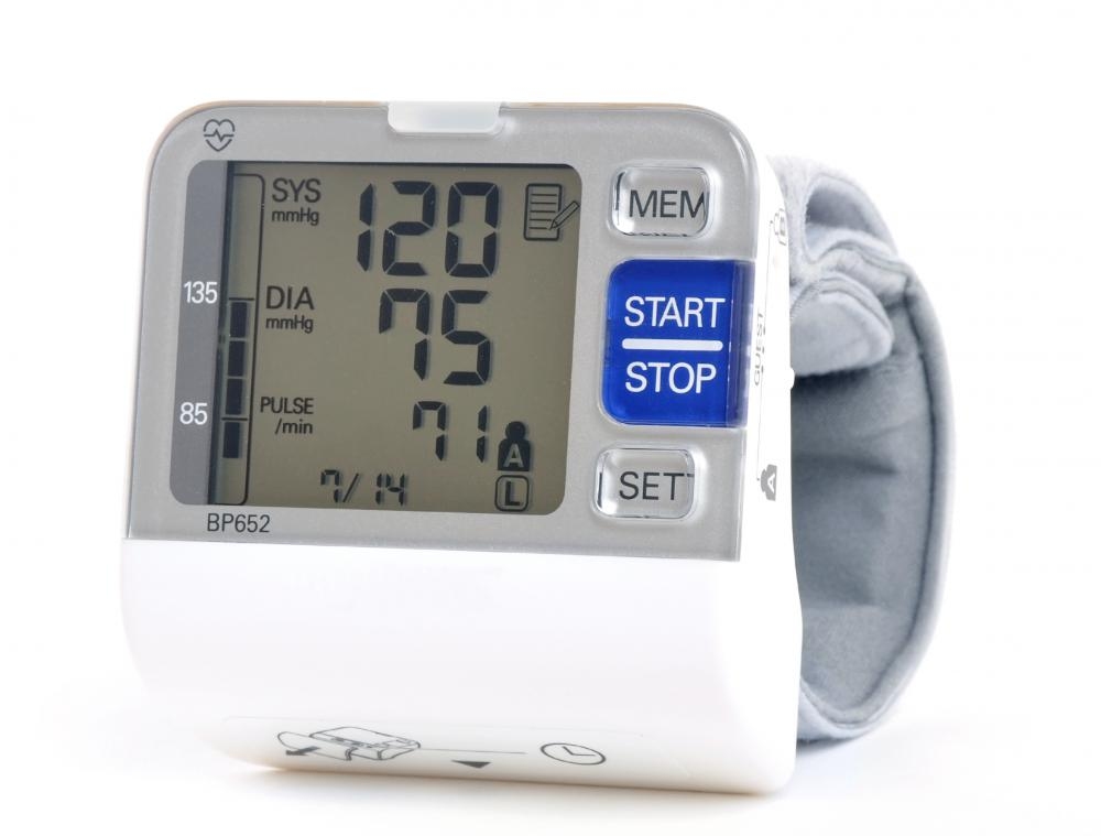 A home blood pressure monitor is useful for tracking blood pressure.