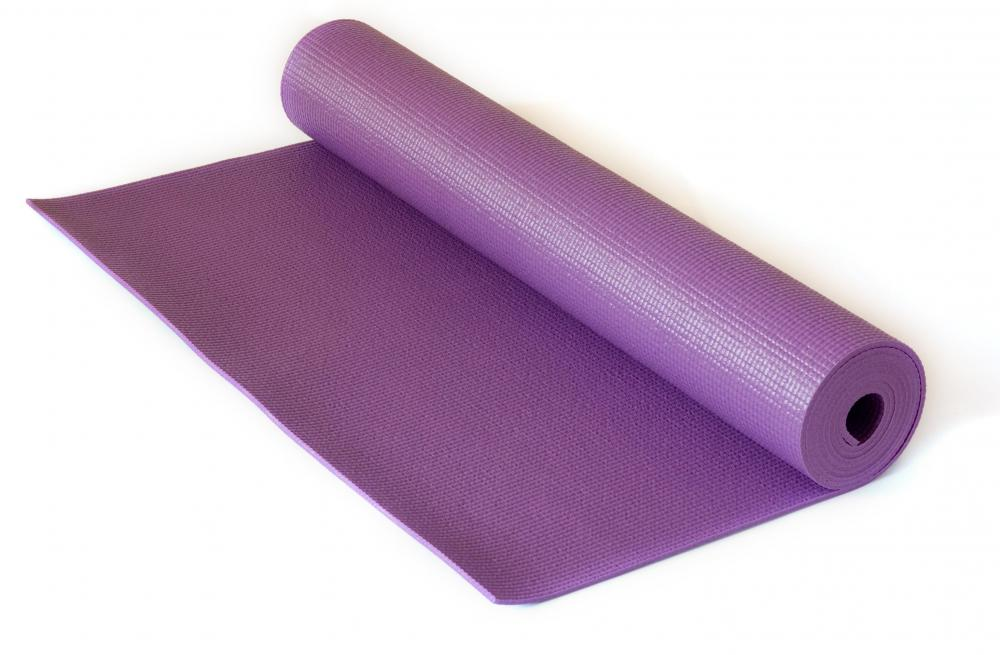 A yoga mat will come in handy for yoga or Pilates core training.