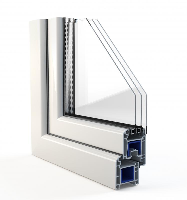 PVC brick molding can be used to frame a door or window.