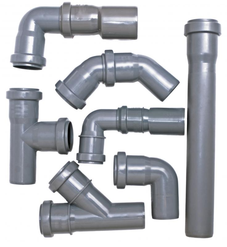 PVC pipe fittings.