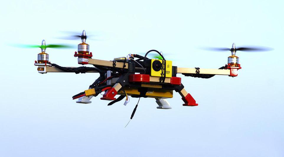 Quadcopters may be used for video surveillance.