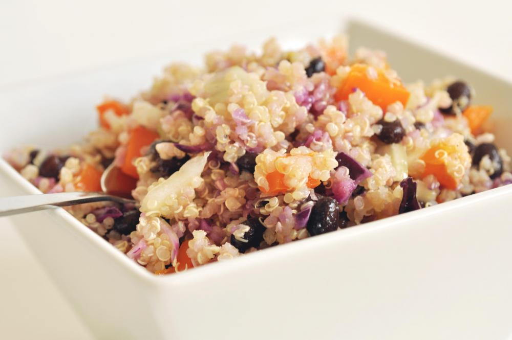 Quinoa can be added to many recipes, such as salads.