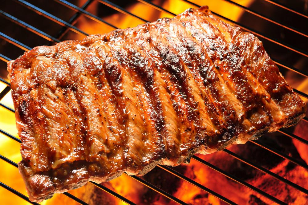 Ribs can be cooked using indirect grilling.
