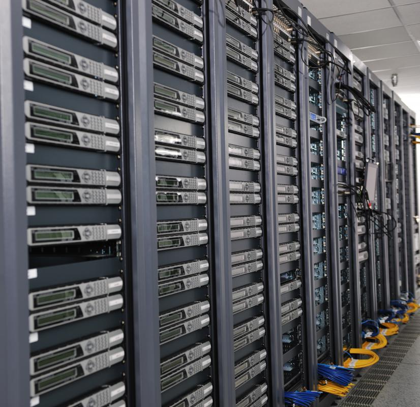 Network support specialists often work with servers.