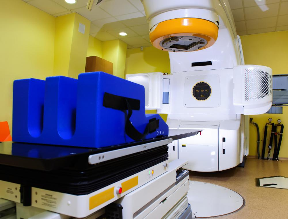Beam radiation therapy utilizes high energy radiation to treat cancer and other diseases.