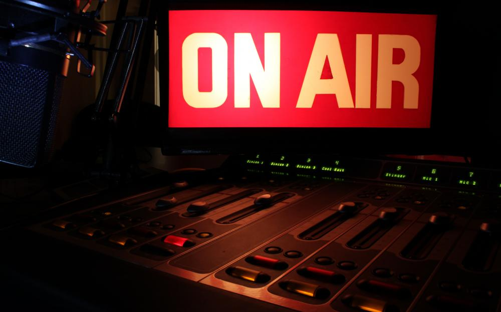 A radio station may set up a live broadcast to promote an event.