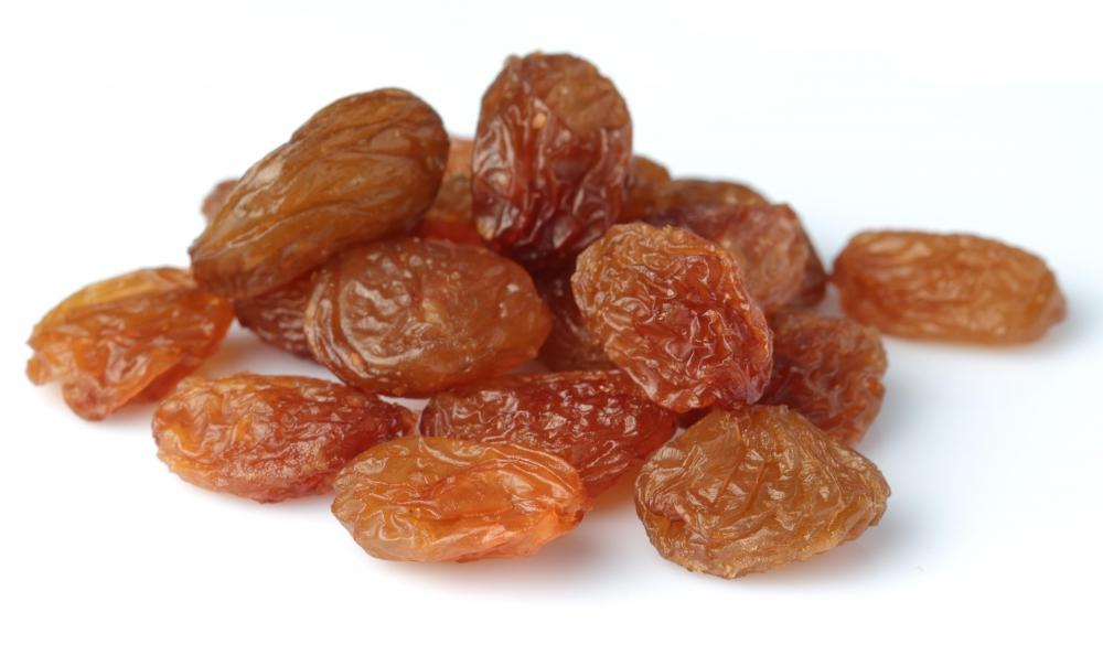 Raisins are typically included in recipes for mrouzia.