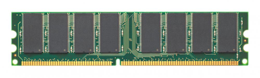 A stick of RAM, a type of computer memory.