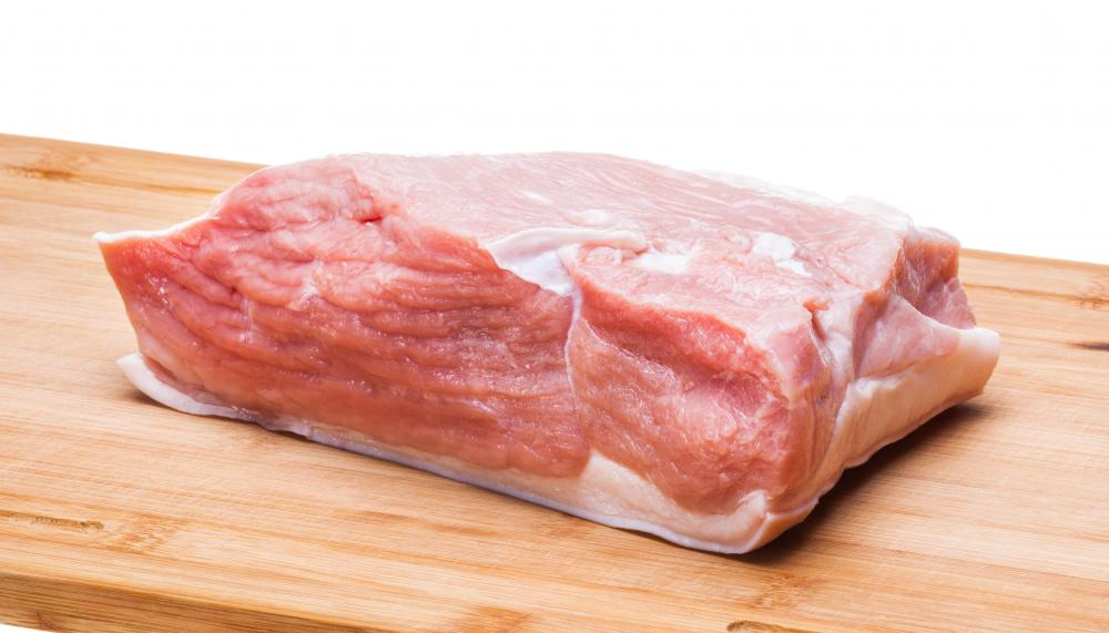 Raw pork can cause illness, so it must be cooked to an internal temperature of at least 160 degrees.