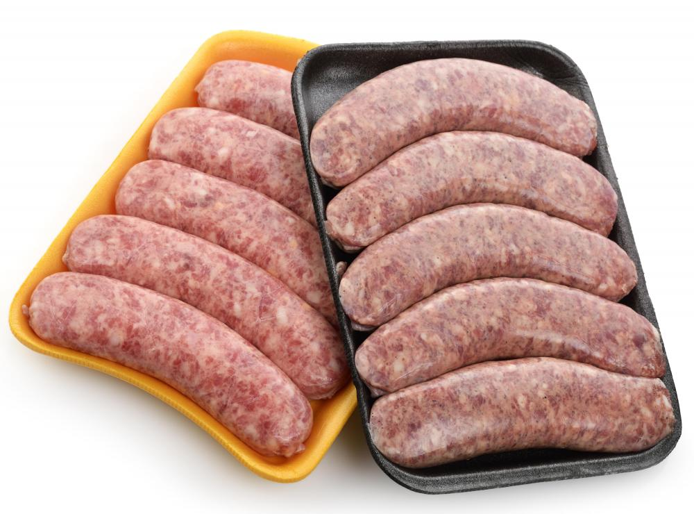 Bratwursts may be used to make a German-style sausage sandwich.
