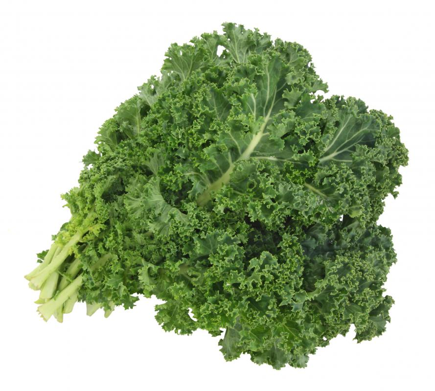Kale is a good natural source of calcium.