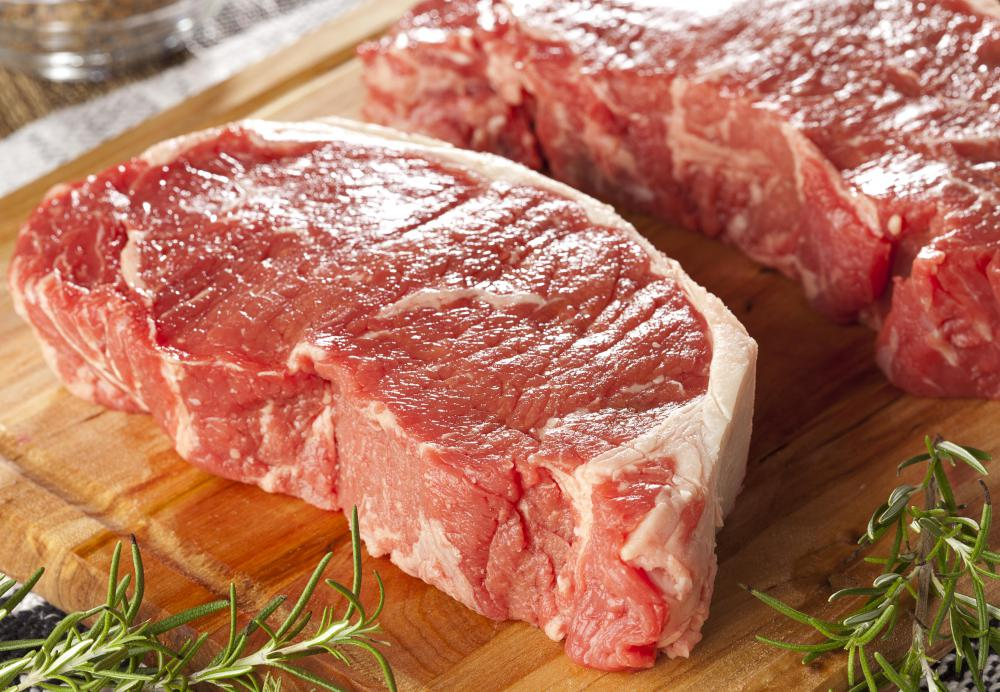 Canned beef may be raw meat from cattle.