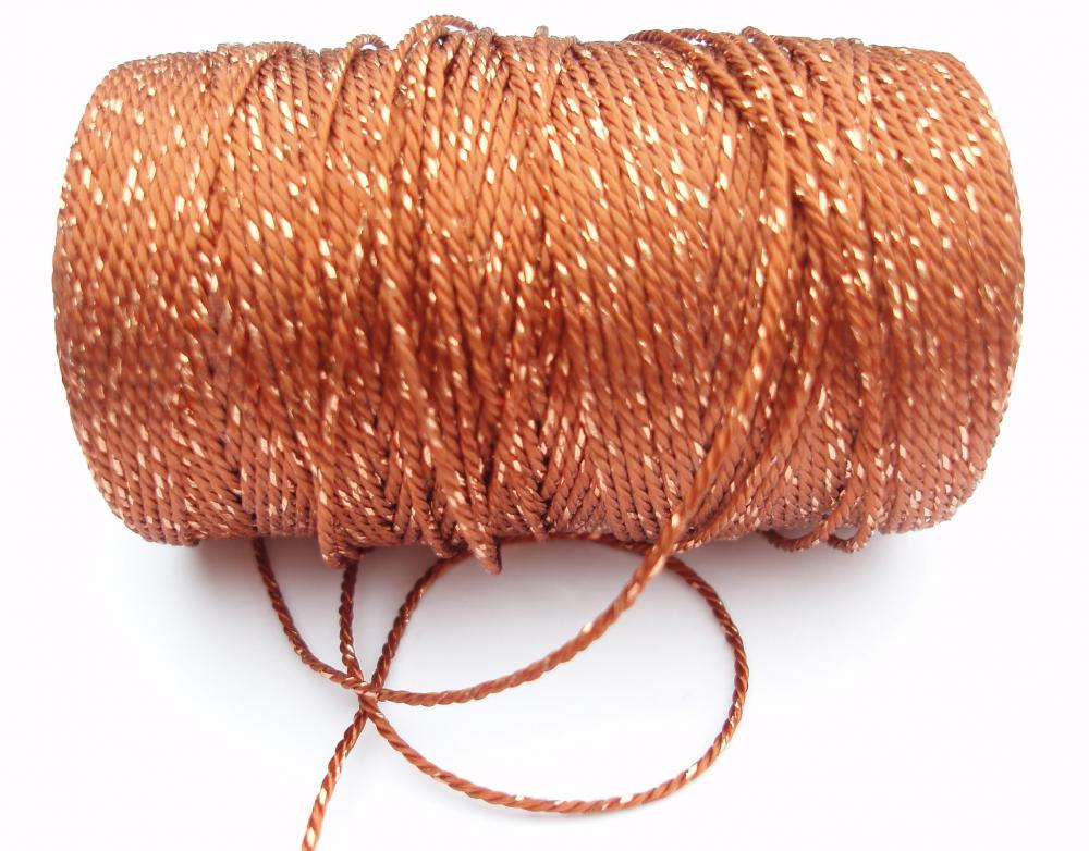 A metallic yarn.