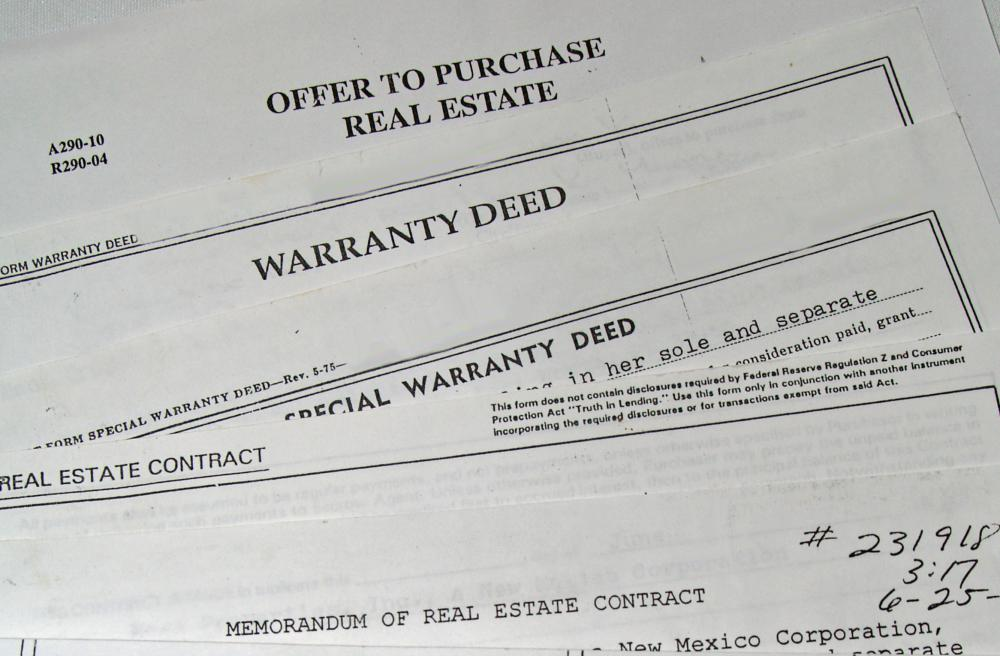 Real estate documents are usually managed by a broker or agent.