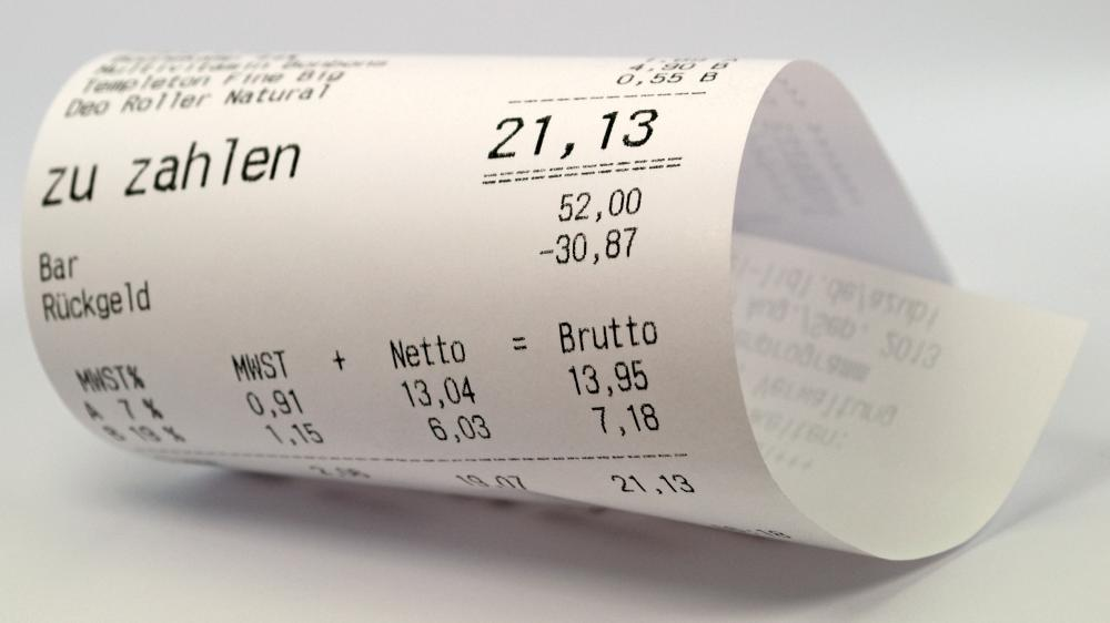 Receipts, which are given after an item is paid for, document the details of a sale.