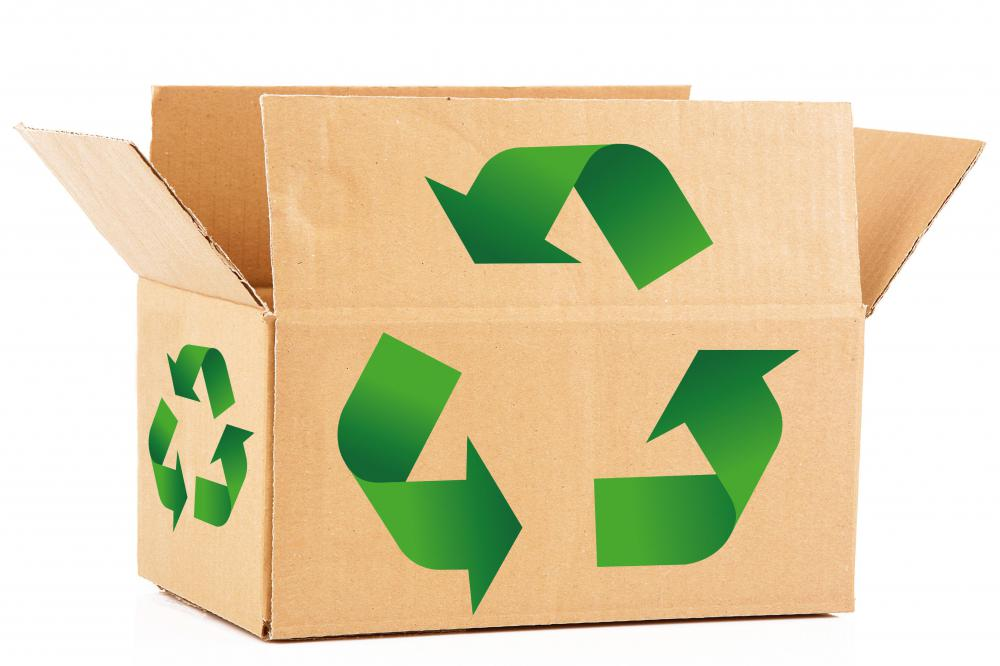 Cardboard can usually be recycled.