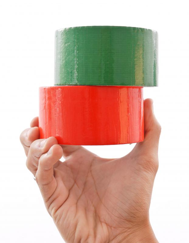 Today, duct tape can be purchased in many different colors and widths.