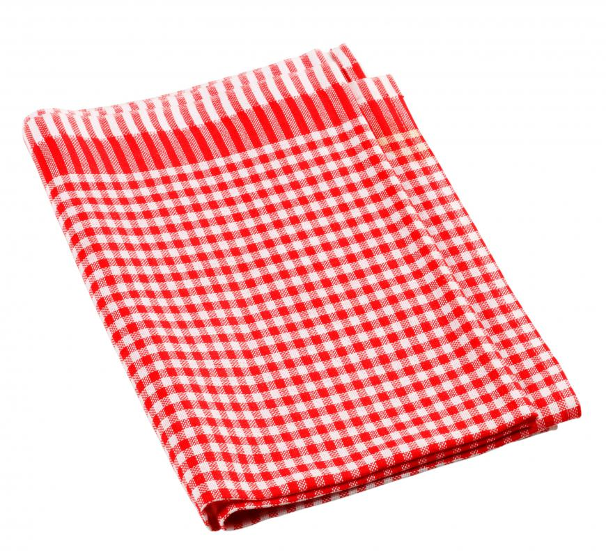 A red and white tea towel.