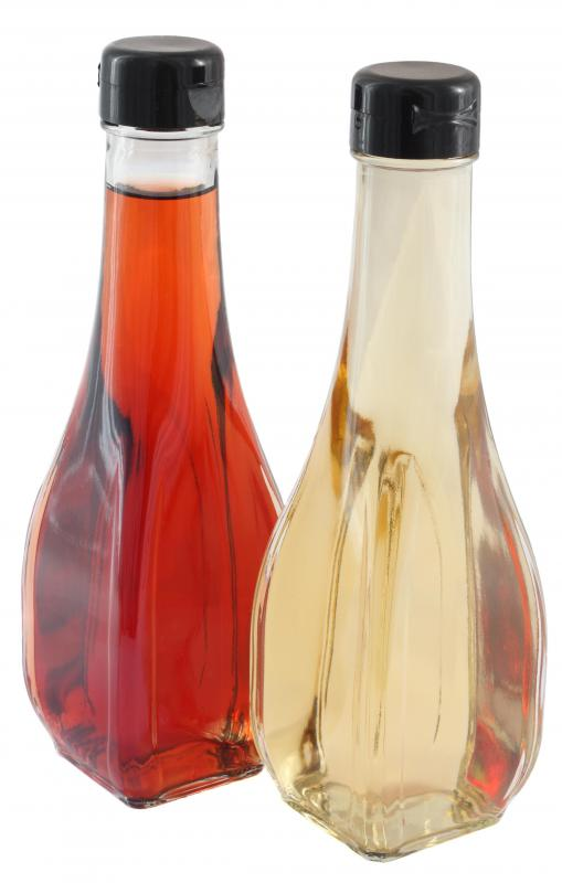 Red and white vinegar.