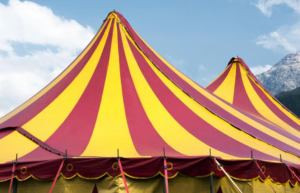 Circus tents can be used for parties and other special occasions. & What are the Different Types of Tents? (with pictures)