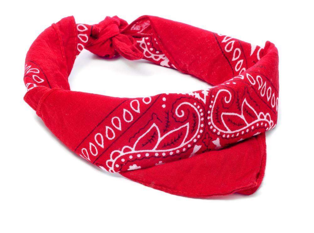 Bandanas are usually made of cotton.