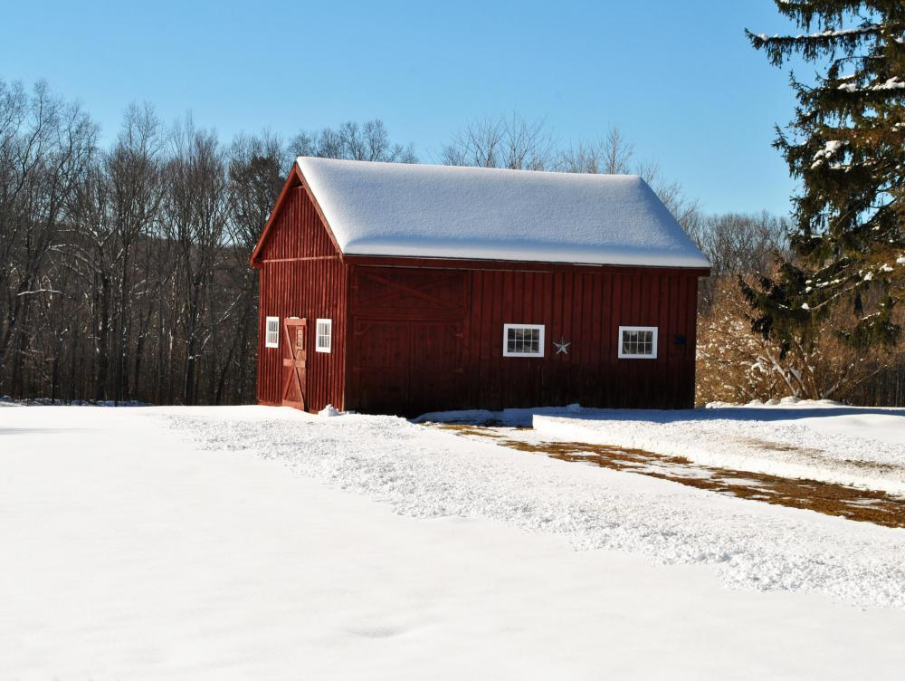Board and batten siding may be found on barns.