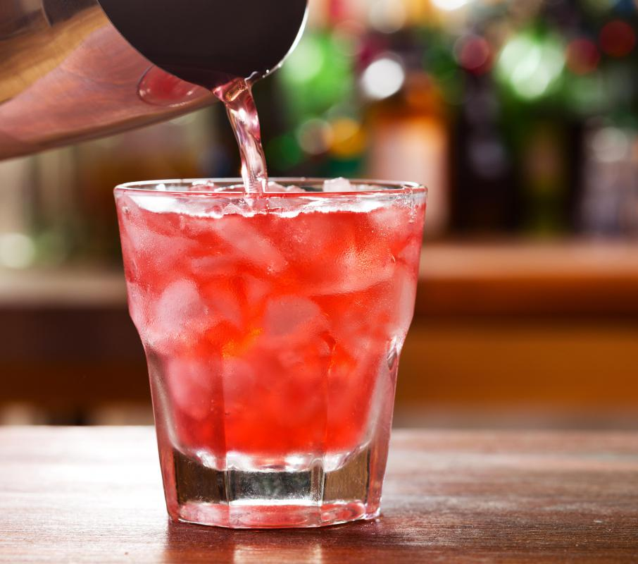 Pomegranate juice is often mixed with other beverages to help dilute its strong taste and dark red color.