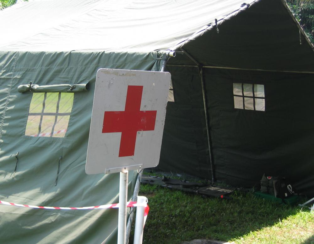 Groups displaying the Red Cross are protected on the battlefield.