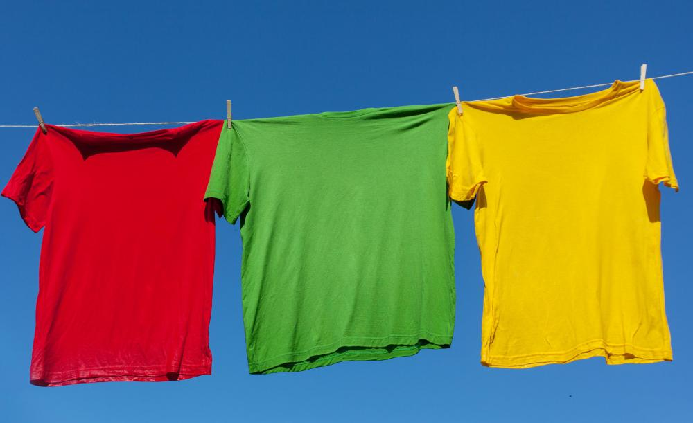 Drying clothes outside can reduce the chance of mold growing.
