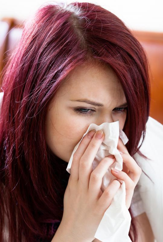 A runny nose may be an immune response to a virus antigen.