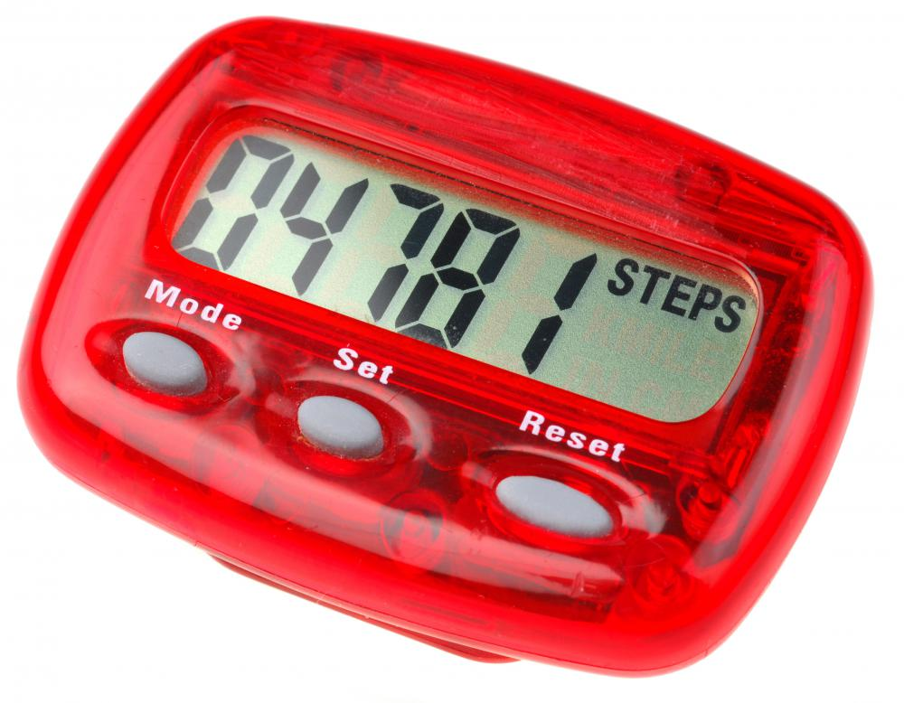 A pedometer might help a dieter set a walking goal, such as 10,000 steps a day.