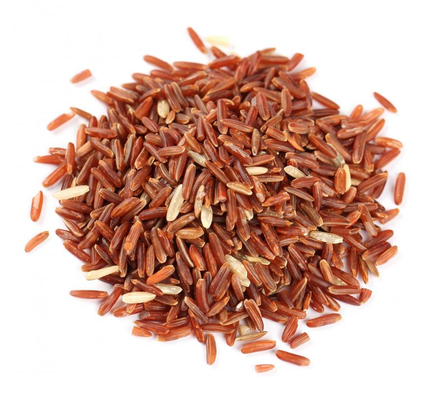 Long grain red rice.