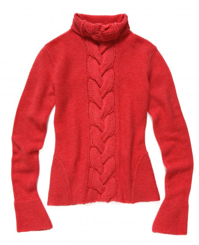 A hand knit sweater.