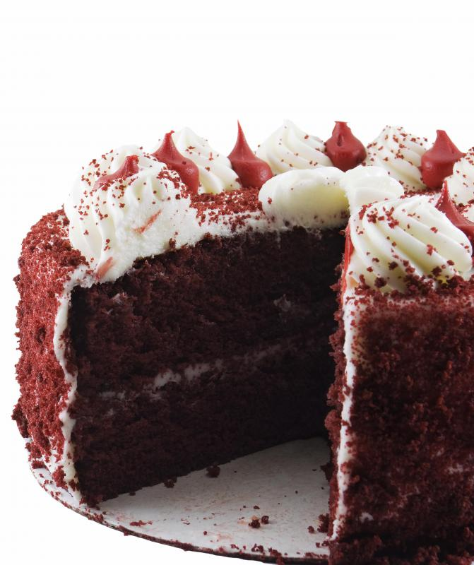 Cream cheese frosting is commonly used on red velvet cake.