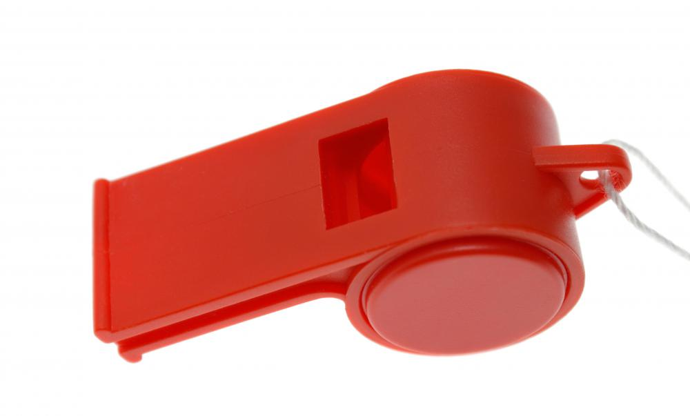 Lifeguard accessories may include whistles.